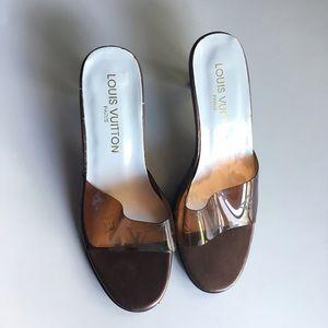 Louis Vuitton high heel sandals